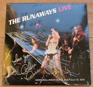 The Runaways LP Live at the Agora Ballroom 1976 Signed by Singer Cherie Currie