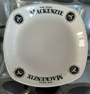 The Real Mackenzie Scotch Whisky Vintage Ashtray/Plate, Man Cave, Home Bar, Cool