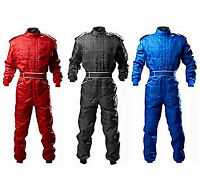 Go Kart Cordura Race Suit BLACK-RED-BLUE -Mega sale Introductory offer