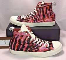 CONVERSE MENS SIZE 10 CHUCK TAYLOR ALL STAR X MISSONI WHITE LEATHER PINK RARE