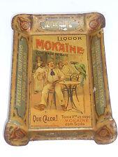 MOKAINE LIQUOR - antiker Blechteller, Zahlteller, seltene portug. Ausführung