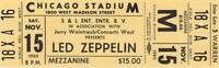 LED ZEPPELIN 1980 IN THROUGH THE OUT DOOR TOUR UMUSED TICKET No. 3 / NMT 2 MINT