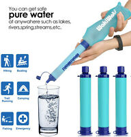 Portable Water Filter Purifier Filtration Bag Hydration Straw Emergency Survival