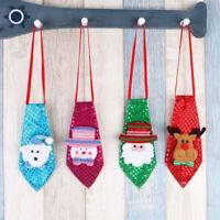 Christmas LED LightUp Flashing Sequins Tie Santa Snowman Reindeer Xmas Kids Gift