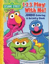 Sesame Street Coloring Book ~ 123 Play With Me! (Oscar, Grover, Telly Monster)