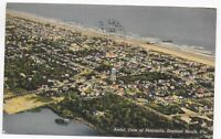 Postcard Linen FL 1941 Daytona Beach Florida Aerial View of the Old Beach —  C19