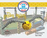 Exclusive Brick Loot Build Golden Snitch – 100% LEGO Bricks Set Kit Model