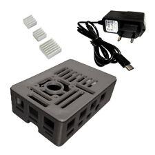Raspberry Pi 4 kit : case - power supply 3A - heatsinks dissipateurs koelblokjes