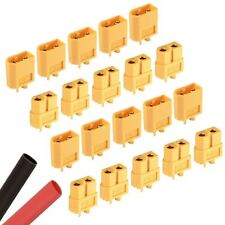 10 x PAIRS RC XT60 Male & Female PAIR Battery Connector + Heat Shrink