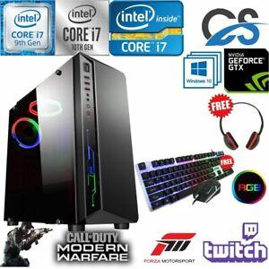 FAST Intel i7 10700F Gaming PC Computer 2TB + 480GB 16GB RAM GTX 1660