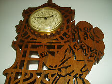 Decorative Wooden Wall Hanging Plaque with Clock - Very Cute