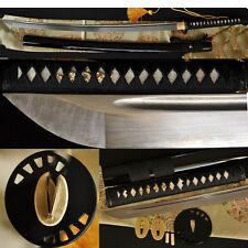 Full Tang Damascus Blade Japanese Sword Katana Iron Kill Bill Tsuba Very Sharp
