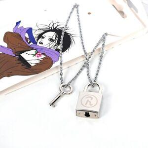 NANA Lock Necklace Osaki Nana Honjo Lotus Couple Necklace Can Be Unlocked New