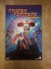 Transformers The Movie(1986 Animated) Poster NEW Fathom Events Promo Rare