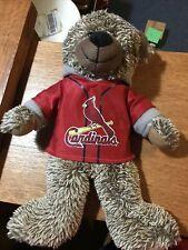 St Louis Cardinals 14�- Plush Teddy Bear Stuffed Toy Wearing Cardinal Hoodie