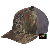 NEW BROWNING SPEED MESH BACK FLEX FIT BALL CAP HAT ATACS TD-X CAMO