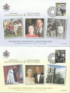 SOLOMON ISLANDS 2007 QE11 DIAMOND WEDDING ANNIVERSARY FDC SET