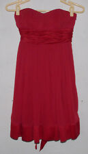 BCBGeneration Womens Red Dress Size 0 Strapless Sweetheart Neckline Prom Party