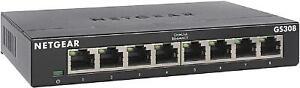 NETGEAR 8-Port Gigabit Ethernet Unmanaged Switch (GS308) - Home Network Hub, Off