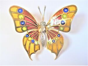 Pendant/Brooch Gold 750 With Fensteremaille And Diamonds, 15,75 G
