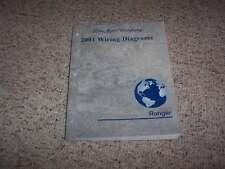 2001 Ford Ranger Electrical Wiring Diagram Manual XL XLT Edge V6 4Cyl 2.3L 2.5L