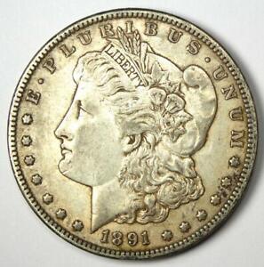 1891-CC Morgan Silver Dollar $1 - XF / AU Details - Rare Carson City Coin!