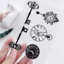 Key Clock Transparent Clear Stamp DIY Silicone Seals Scrapbooking Card