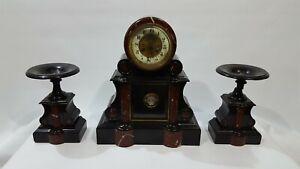 Garniture De Marmol Reloj Paris marble  Cod 22301
