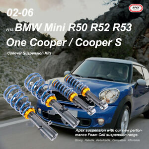 Fits BMW Mini R50 R52 R53 One Cooper S 02-06 Adjustable Coilover Suspension Kits