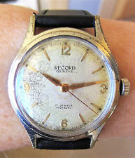 Serviced Gents 1950's Record 17J Mechanical Watch Very Rare cal 620 Working