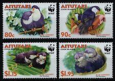 Aitutaki 2002 - Mi-Nr. 772-775 ** - MNH - Vögel / Birds