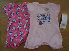 BNWT baby girl summer romper outfits x2. Minnie Mouse. UP to 7.lb   1/7