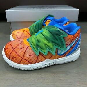 Nike Kyrie 5 SpongeBob SquarePants Pineapple House TD Toddler Size 8C CN4490 800