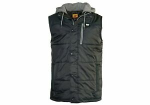 Caterpillar Hooded Warm Work Vest/Travel/Holiday/Winter Mens - WorkWearZone