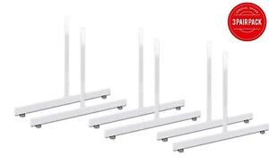 NEW 3 PAIRS OF T-LEGS FOR GRIDWALL PANELS - WHITE