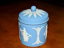 """Light Blue and White Wedgwood Jasperware Tea Caddy/Cigarette/Trinket Holder 4.5"""""""