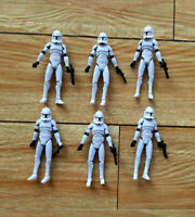 Lot  of 6 Hasbro Star Wars  The Clone Wars Clone Trooper action figure 3.75""