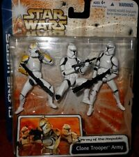 STAR  WARS  CLONE TROOPER  ARMY (yellow) of  the REPUBLIC  ACTION  FIGURE
