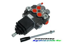 Hydraulikventil Ventil 2-fach 1 x DW 1 x EW Kreuzhebel 50 l/min 300 bar