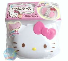 SANRIO Hello Kitty Kawaii Tiny Cute Earbuds Earphones In-Ear Headphones Case