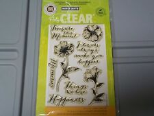 HERO ARTS POLY CLEAR 4X6 THINGS WE LOVE FLOWERS WORDS 8 STAMPS #CL715 NEW A1243
