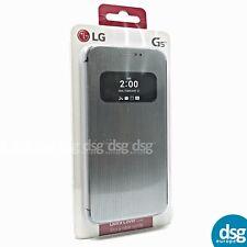 Genuine LG G5 (2016) Mesh Flip Protective Folio Quick Cover Case in Silver