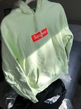 Supreme Box Logo Hoodie Pale Lime FW17  - Size Medium - $800-$1K on StockX