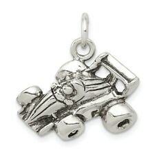 Sterling Silver Antiqued Go Kart Racer Charm New Sports Pendant