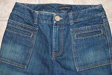 Banana Republic bootcut 28 welt pockets blue jeans jrs heavy denim BR flare