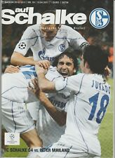Orig.PRG   Champions League  2010/11  SCHALKE 04 - INTER MAILAND  1/4 FINALE  !!