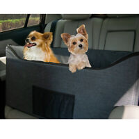 Lookout Dog Booster Seat for Dogs - Elevated Pet Bed for Cars - 2 Styles