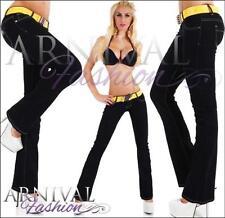 Regular Flare Cotton Jeans for Women