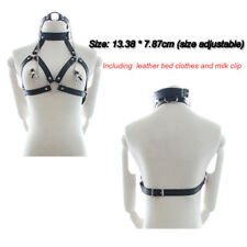 Leather Tied Clothes Breast Clip FunHarness Lingerie Adult Flirt Funny Sex Game