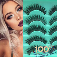5Pairs Long Natural Thick Handmade Fake False Eyelashes Eye Lashes Also Mink New